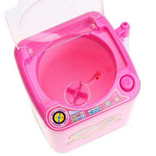 Dv_ Washable Makeup Brush Cleaner Kid Pretend Play Automatic Washing Machine Toy