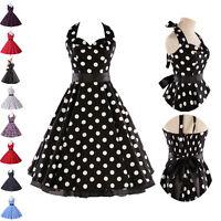 New Summer Plus Size Retro 50s Swing Pin Up Dress Polka Dot Vintage Swing Dress