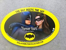 Batman/Catwoman THE BAT MEETS THE CAT soft fridge magnet. Free Shipping!