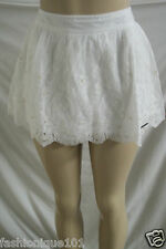 NWT  ABERCROMBIE & FITCH WOMENS WHITE LACE SEQUIN MINI SKIRT ALICIA SIZE MEDIUM