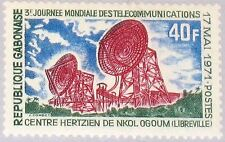 GABON GABUN 1971 438 276 3rd World Telecommunications Day Hertzian Center MNH