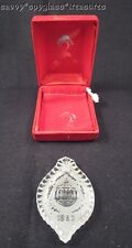 Waterford 1983 Christmas Ball Ornament & Holly Crystal Ornament in Box