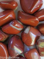 Three Red White Jasper 18-25mm Tumbled Stone Reiki Healing Crystal Protection
