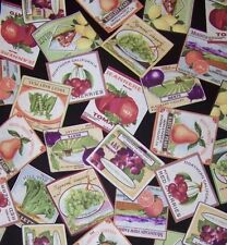California Wholesale Fruit & Vegetable Supplier Labels Red Rooster Fabric BTQY