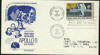 C76 Moon Landing Eli Liilly Cachet Addr 1969 Dual Cancel Apollo 11 FDC W/Letter