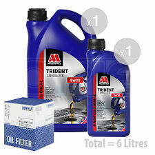 Engine Oil and Filter Service Kit 6 LITRES Millers Oils TRIDENT Longlife  6L