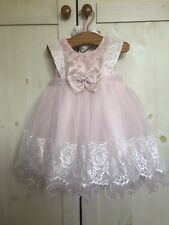7eedd7d55dd Couche Tot Baby Girls Pink Satin Tulle Lace Dress Wedding Party Bridesmaid