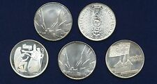 SWITZERLAND 1963-1965  SHOOTING MEDALS, MISC. SILVER MEDALS LOT OF (5)
