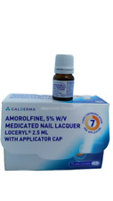1 x Amorolfine 5% Medicated Nail Fungal Treatment Curanail Loceryl Lacquer 2.5ml