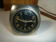 WATCH MONTRE DESK CLOCK HORLOGE VOYAGE TABLE JAZ vintage rare metal 1949 ancien