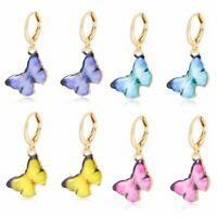 Charm Women's Butterfly Enamel Ear Hoop Earrings Drop Dangle Jewelry Gift Hot