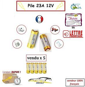 batterie/pile 23A 12v télécommande auto, portail , alarme etc... vendu par 5