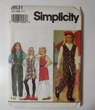 Simplicity 8631 Size 7-14 Girls' Jumpsuit Jumper
