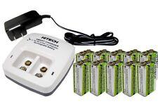 10pcs 9v LiPoly 720mAh TOP(power NiMh 3 times)+ic-29v Smart Li Charger(UL)30%OFF