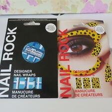 Nail Rock Designer Nail wraps 2 packs  new