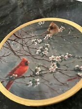 "Spring Glory 8"" Plate by Wanda Munn-Lenox Birds of the Garden Plate Collection"