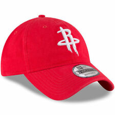 New Era Houston Rockets Red Official Team Color 9TWENTY Adjustable Hat Mens Dad