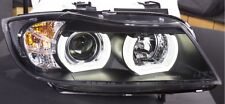 BMW 3 SERIES E90 E91 05-08 BLACK LED 3D DRL DAYLIGHT RUNNING LIGHTS HEADLIGHTS