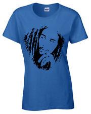 Bob Marley Womens T-Shirt Reggae Jamaica Wailers Jamaican Flag ladies