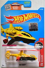 HOT WHEELS 2016 HW RESCUE SKY KNIFE YELLOW FACTORY SEALED
