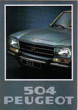 Peugeot 504 Saloon L GL Ti LD GLD 1977-78 Original UK Sales Brochure No. PP1173