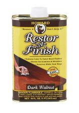 HOWARD Original Restor-A-Finish 1 Pt DARK WALNUT Wood Furniture Restorer RF6016