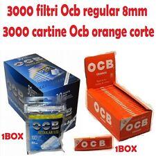 3000 FILTRI OCB REGULAR 8mm - 3000 CARTINE OCB ORANGE CORTE ARANCIONI