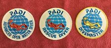 New listing Padi Patches - 3 Total As Pictured - Advanced,Rescue & Divemaster Patch