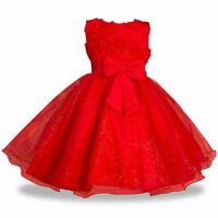 New Luxury Bridesmaid Gown Wedding Princess Girls Dress Sequin Party Kids Clothe