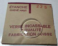 Verre de montre suisse bombé plexi diamètre 225 Watch crystal vintage *NOS*
