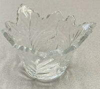 Vtg Maple Leaf Lead Crystal Bowl- 24% Lead Crystal made in USA