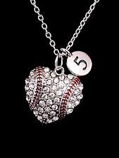 Necklace Number Baseball Softball Heart Mom Christmas Gift Sports Charm