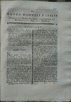 1795 RIVISTA BOTANICA: ROBBIA PER TINTURA, RICINO, PIANTE DA STAGNI DEL PADOVANO