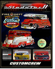 SLEDSTER 4 PC. SET FIRE ENGINE LADDER TRUCK BUS