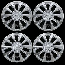 "4 New 02-16 Camry Corolla 16"" Chrome Wheel Covers Rim Hub Caps with STEEL CLIPS"