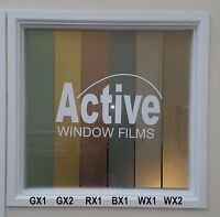 Coloured Privacy Frosted Window Film, Etched Glass Sticky Back Plastic Vinyl