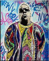 "Alec Monopoly Banksy Print on Canvas Graffiti art Wall Decor Notorios BIG 28x36"""