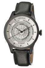 Gevril Men's 2005 Columus Circle Automatic Limited Edition Leather Date Watch