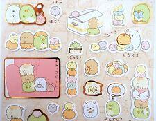 Sumikko Gurashi kawaii cuddle stickers! Japanese San-X bubble tea, tangerines