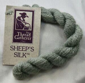 Thread Gatherer Sheep's Silk 50% silk 50% wool 25 yds Sage SPS17 green