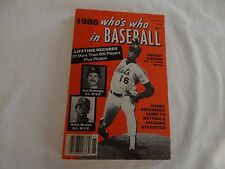 1986 Who's Who In Baseball!! VERY GOOD CONDITION!!