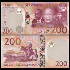 Lesotho 200 Maloti, 2015(2016), P-NEW, Prefix VARY, UNC