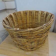 RUSTIC Wicker Hamper Round Basket Box Large Storage Laundry Toy Games Vintage #4