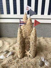 """Dollhouse Miniature Beach Sand Castle Sandcastle 1"""" Scale 1:12 Fairy Garden"""