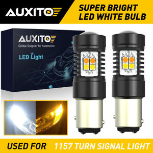 AUXITO 1157 LED Turn Signal Light Bulb Switchback Amber White Anti Hyper Flash D