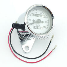 Universal Motorcycle Dual Odometer Speedometer Gauge Speed Meter DC 12V Km/h
