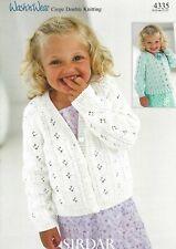Sirdar 4582 Knitting Pattern Baby Childrens Cardigans in Sirdar Snuggly DK