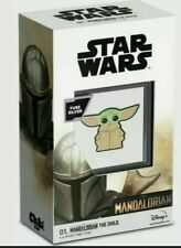 "2021 STAR WARS MANDALORIAN ""The Child"" BABY YODA Silver Chibi Coin. PRE SALE!"