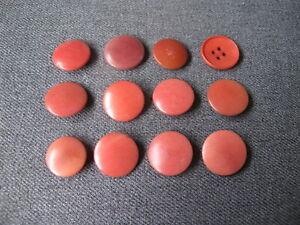 12 Vintage nice colors tagua nut buttons  #1