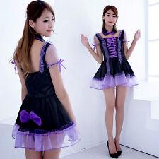 Japanese School Girl Lolita Devil Cosplay Costume Anime Halloween Uniform Dress